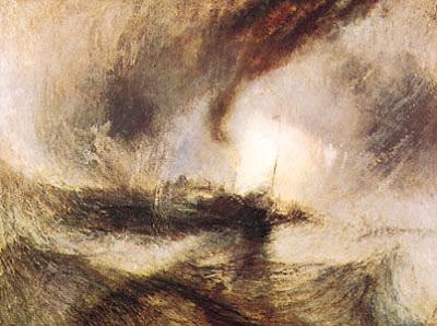 Tormenta de nieve en alta mar de Turner (1842)