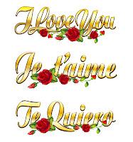 Mensajes en diferentes idiomas Te Amo I love you Je T' Aime
