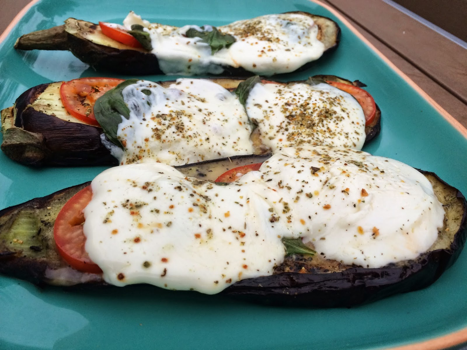 Grilled Caprese Eggplant