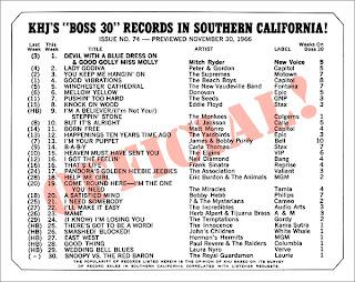 KHJ Boss 30 No. 74 - November 30, 1966
