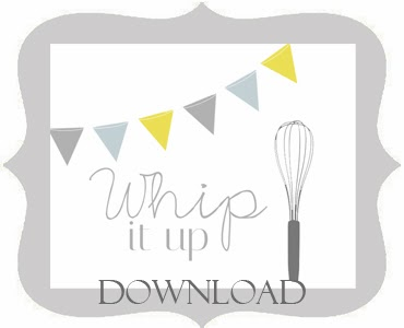 whip it up free printable via Thrifty and Chic