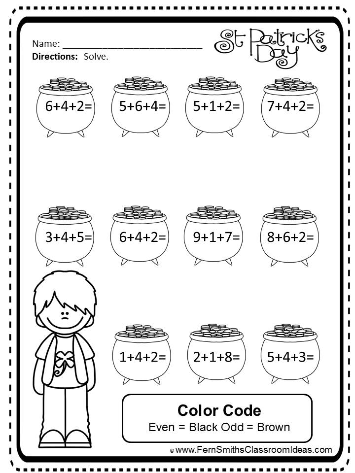 http://www.teacherspayteachers.com/Product/St-Patricks-Day-Three-Digit-Addition-Mega-Math-Pack-Printables-and-Games-1149023