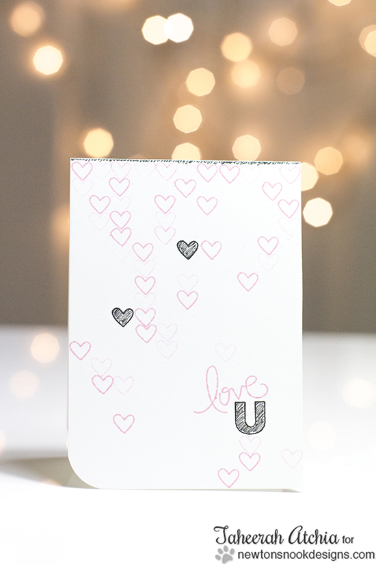 Love U card by Taheerah for Newton's Nook Designs | Love Grows