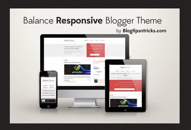 Balance Responsive Blogger Template