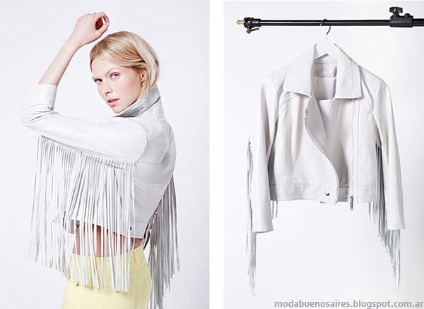 Camperas de cuero marca Ginebra. Moda primavera verano 2015.