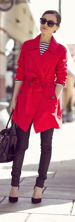 Long red coat with purse and leggings