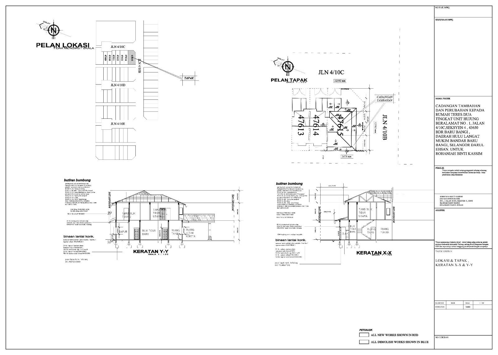 Bazoooka perkhidmatan pelukis pelan bangunan untuk for Arkitek design and model