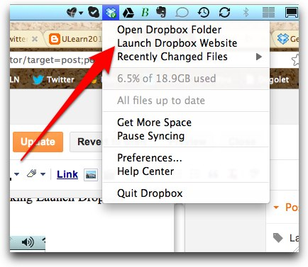 how to add invited folder to dropbox