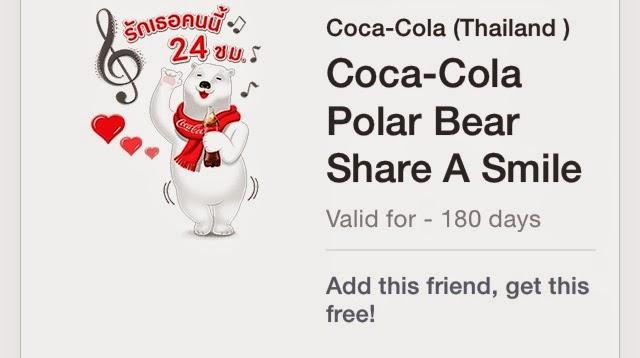 line stickers community free line stickers coca cola polar bear
