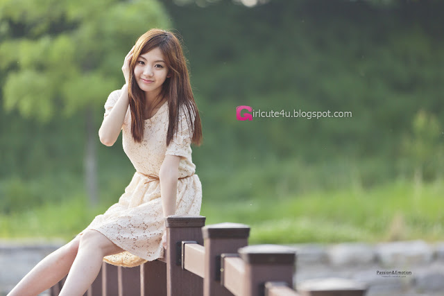 5 Chae Eun - Lovely Outdoor - very cute asian girl - girlcute4u.blogspot.com