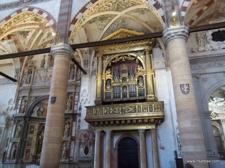 Inside St Anastasia Cathedral Verona