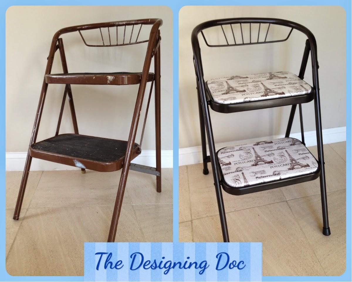 Cute Step Stool Makeover & The Designing Doc: Cute Step Stool Makeover islam-shia.org