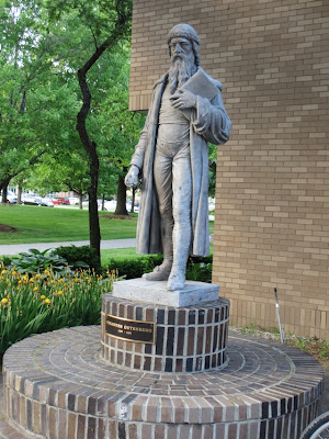 Gutenberg statue Wayne State University (WSU) Detroit