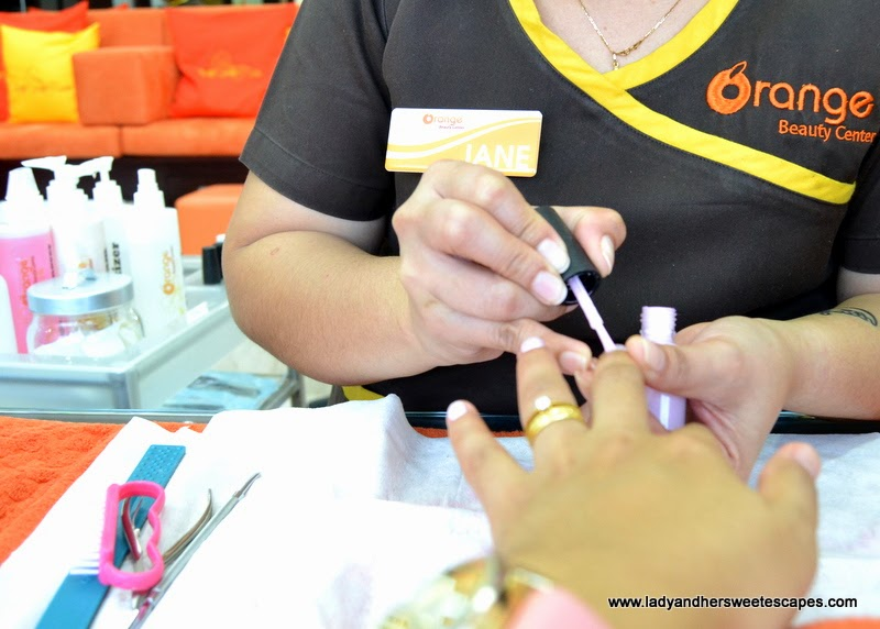 manicure at Orange Beauty Center