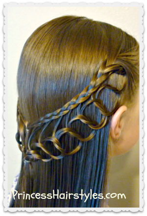 feather chain braid hairstyles