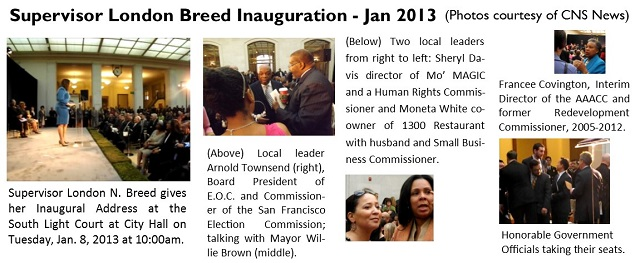 Supervisor London Breed Inauguration - Jan 2013