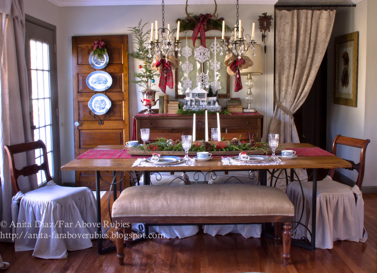 Christmas Dining Room- Far Above Rubies-How I Found My Style Sundays- Christmas Edition- From My Front Porch To Yours