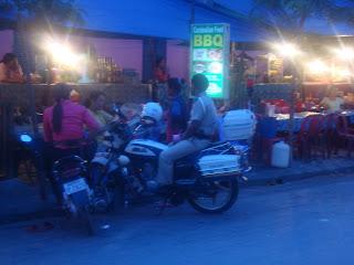 La police de Siem Reap - Cambodge