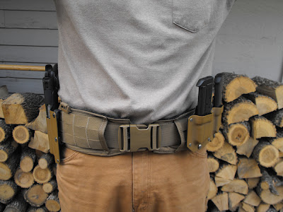 front view of ATS War Belt with custom kydex