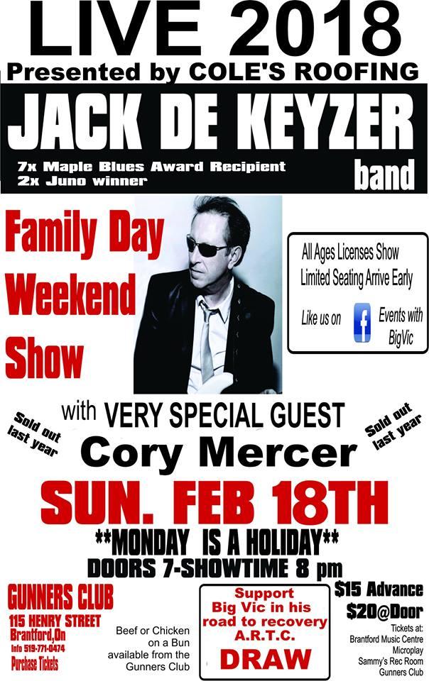 Jack De Keyzer Band w Cory Mercer