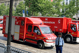 One of the finer things about life in Paris: France's pompiers in uniform