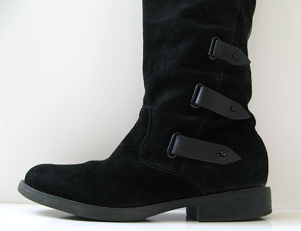 Good Closet Tall Black Leather Suede Boots Guess Boots