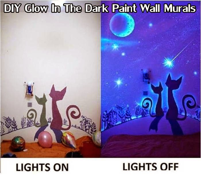 DIY Glow In The Dark Paint Wall Murals