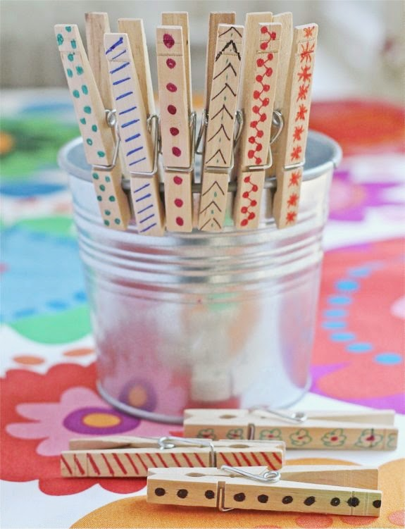 Sharpie Clothespins by Henry Happened - tons of cool Sharpie crafts!