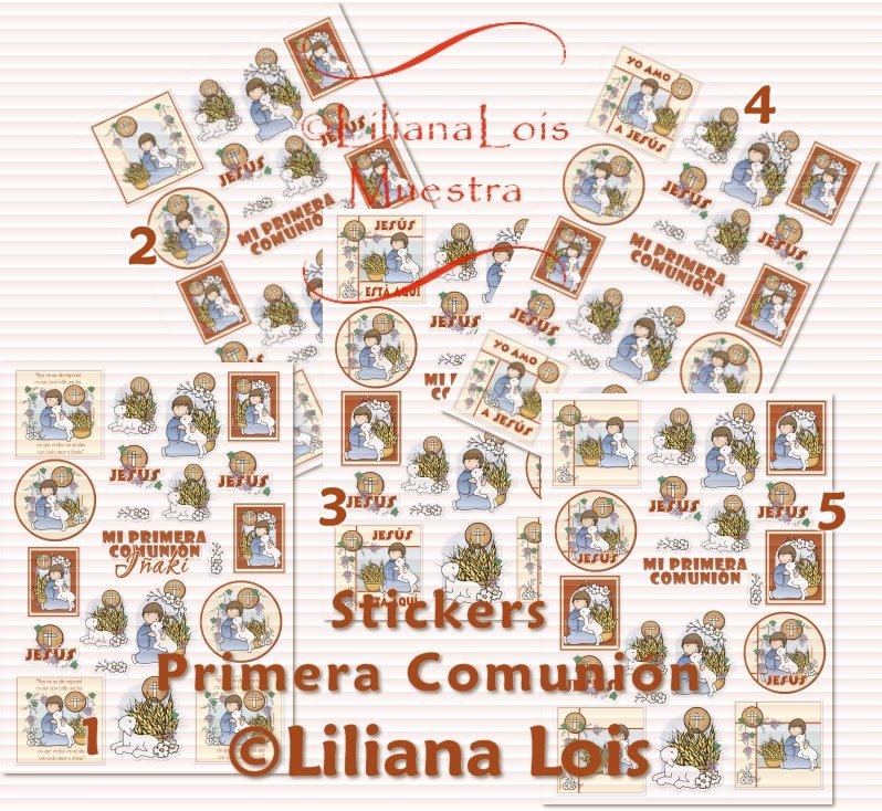 Imagenes para imprimir en papel autoadhesivo Primera Comunion Stickers ...