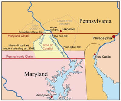 Map of the Week The PennsylvaniaMaryland War