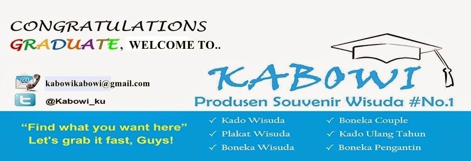 KABOWI PRODUSEN BONEKA WISUDA PLAKAT Souvenir Graduation KADO HADIAH ANNIVERSARY COUPLE ULTAH PACAR