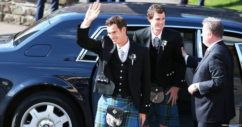 Andy Murray and Kim Sears Wedding Photographs