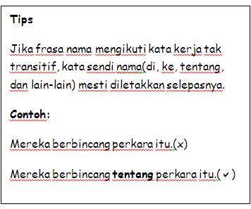 Bahasa Malaysia Kata Kerja Tak Transitif