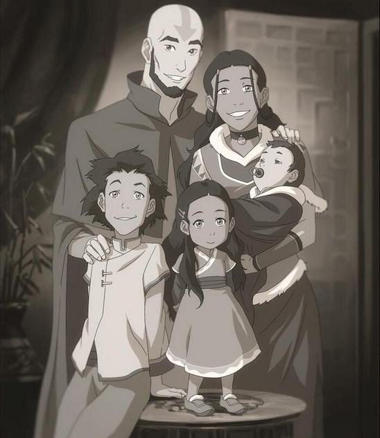 Book 3 Aang's family in Legend of Korra