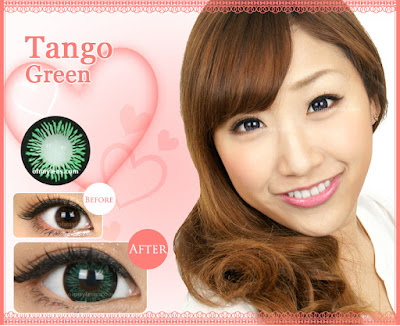 Tango Green Contact Lenses at ohmylens.com