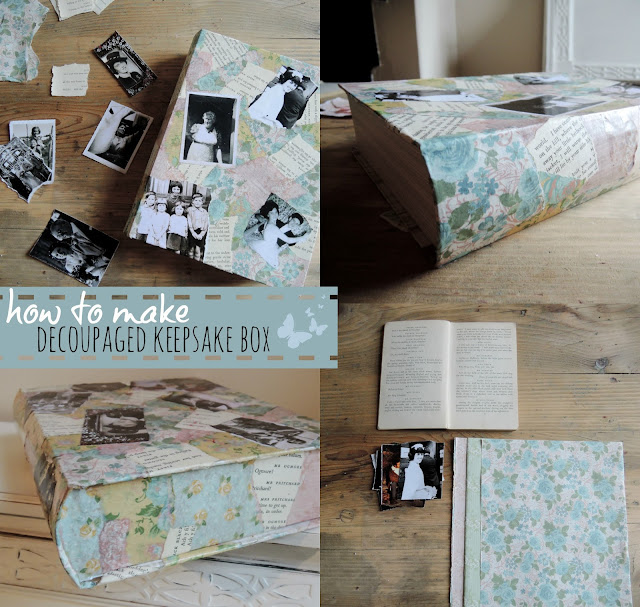 How to make a decoupage keepsake box