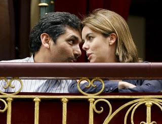 Juan José Cortés y Soraya Sáenz de Santamaría Congreso PP