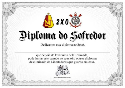 Diploma corintiano sofredor.
