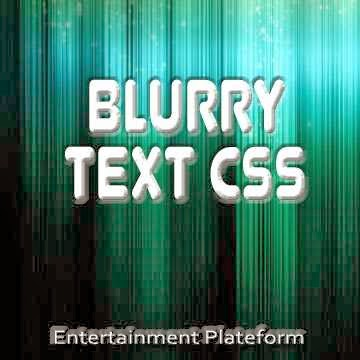 Enjoy-With-Blurry-Text-CSS