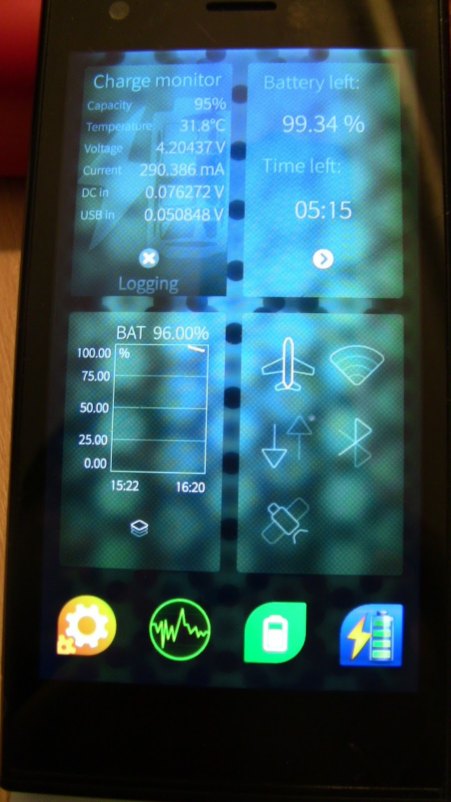 battery doctor how to set up airplane mode