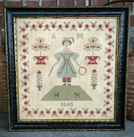 Antique Reproduction Samplers ~ Patterns available by clicking on images...