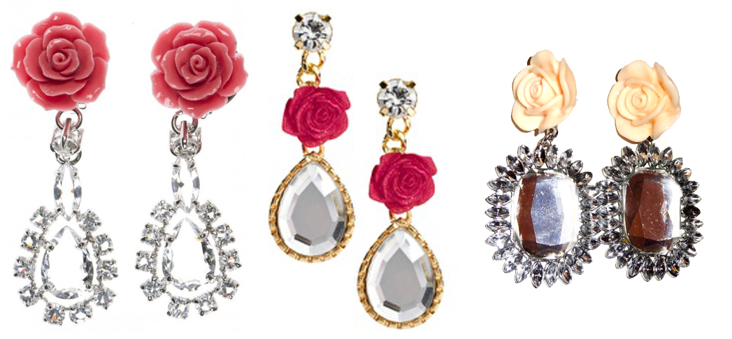 Hijabulous: Get the Look for Less: Prada Crystal Rose Earrings