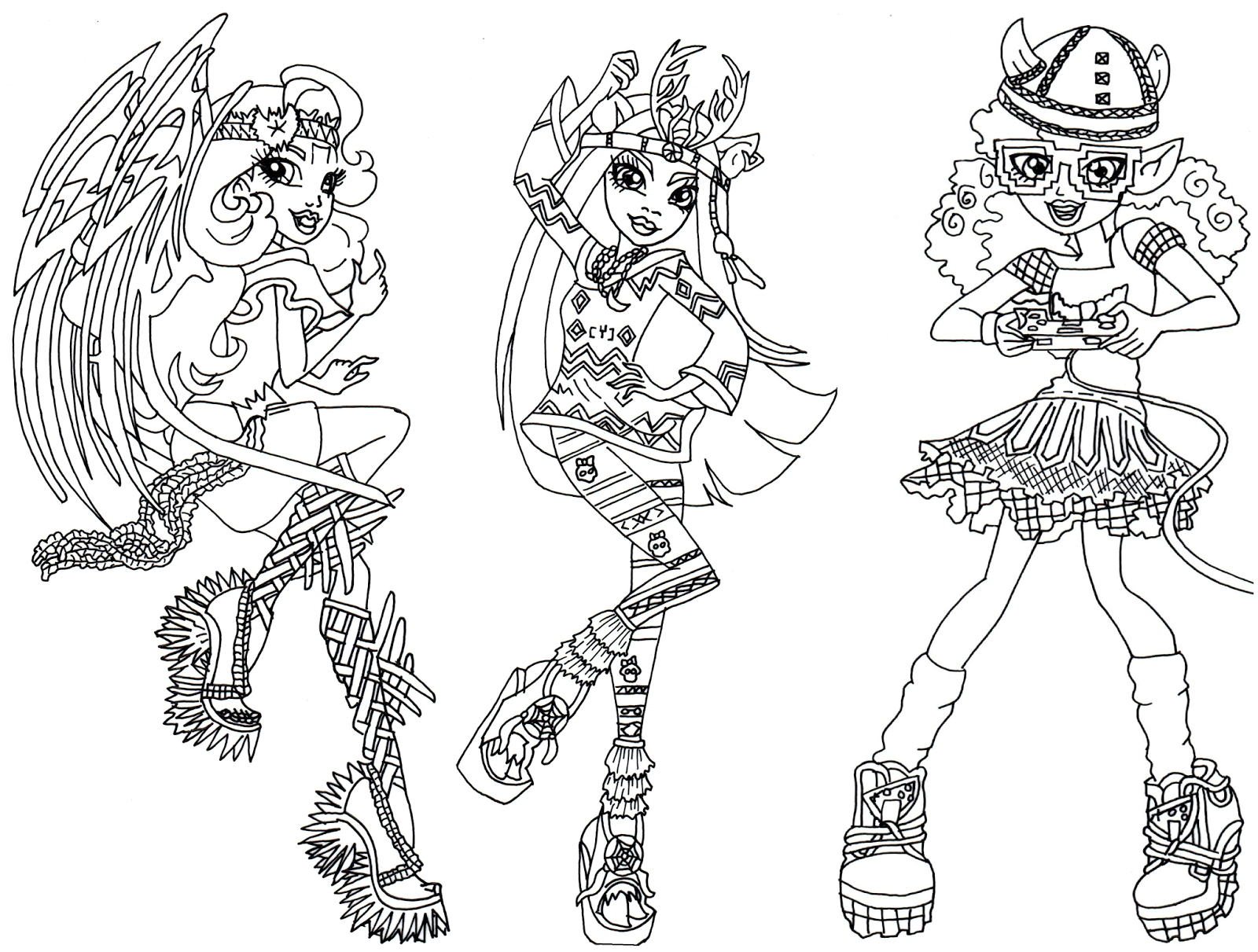 boo york brand boo students batsy claro isi dawndancer and kjersti trollson free printable monster high coloring page