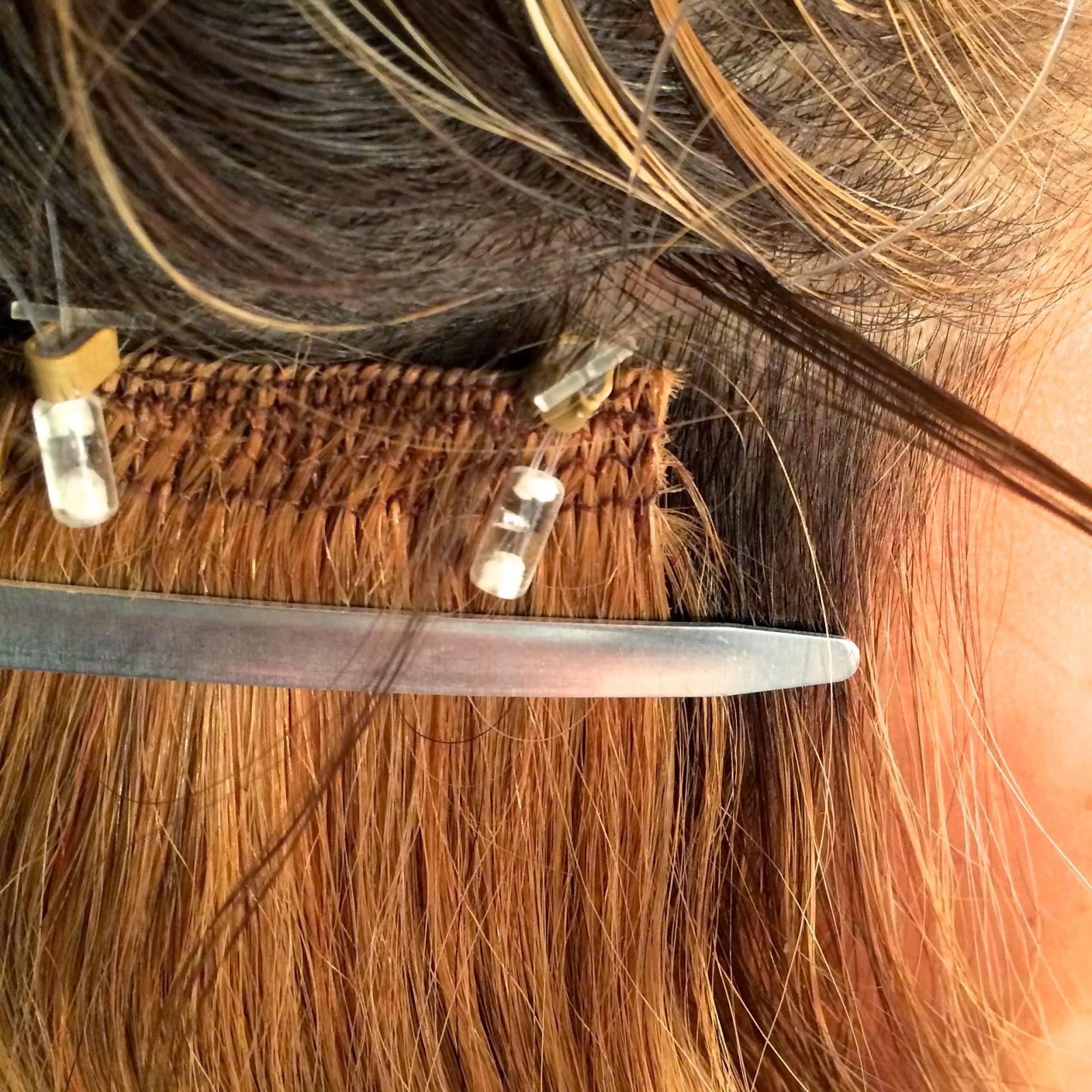 Cult nails blog lockn long hair extension application if you take too much you will have a tough time pulling it through the lock bar if you have too much dont force it just take a little less hair and try pmusecretfo Image collections