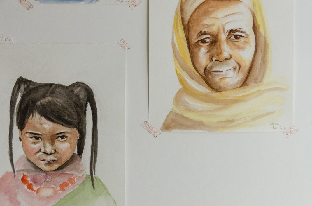 Portraits  -aquarelle