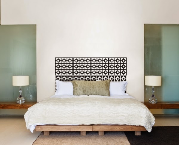 Exceptional work with fabric-covered particle board or recycled rustic  wooden boards. Still other  diy bed headboard ideas