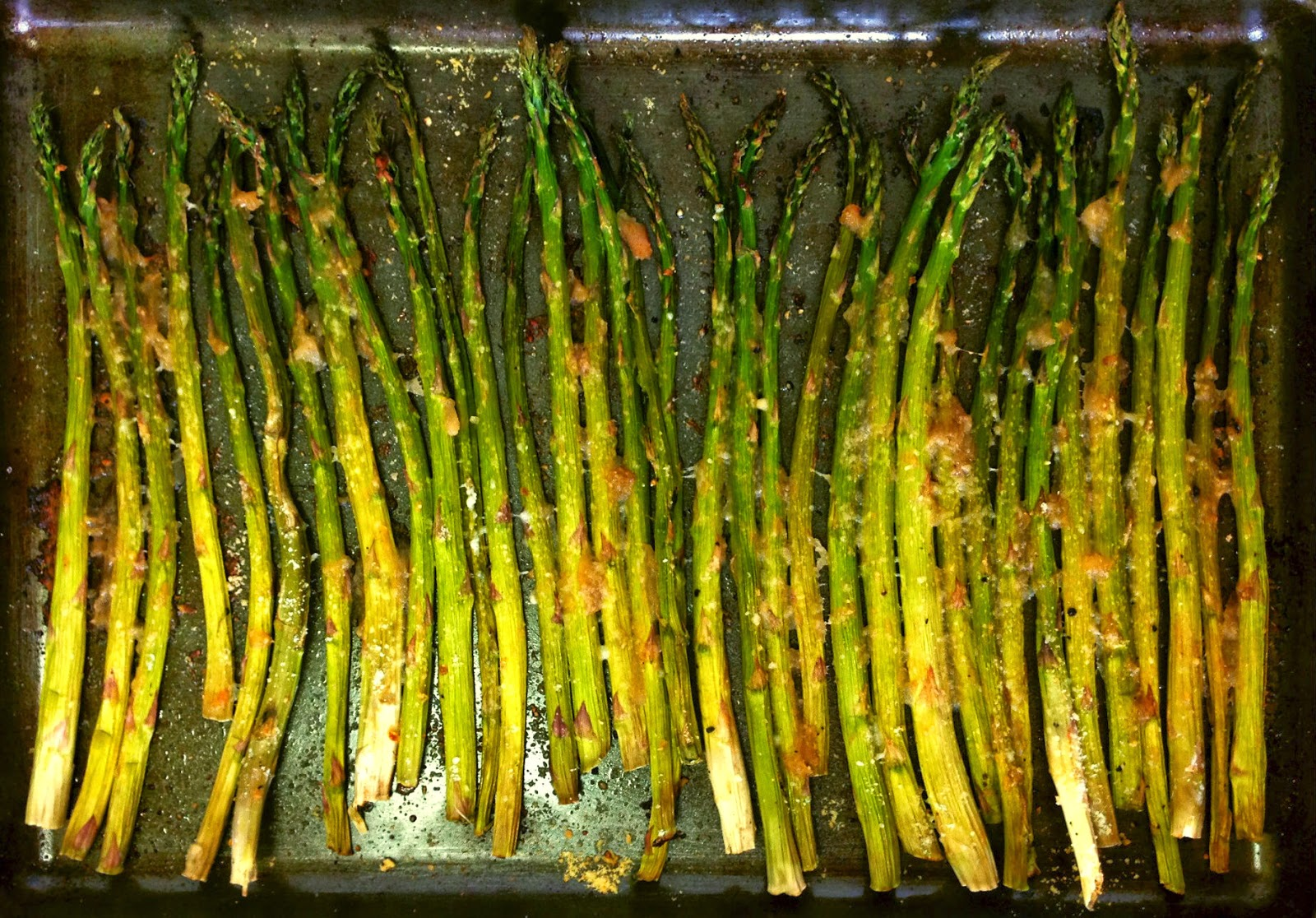 Apple Parmesan Roasted Asparagus