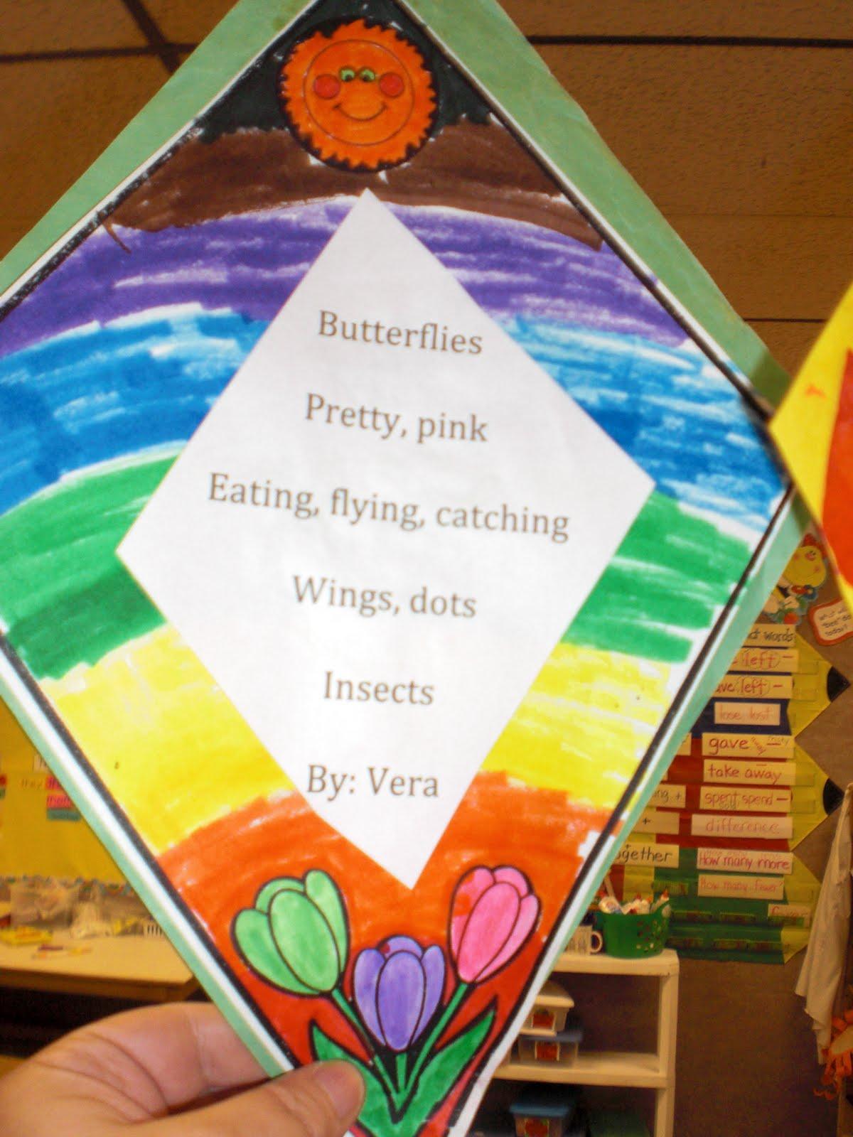PATTIES CLASSROOM: Kites and Diamonte Poems
