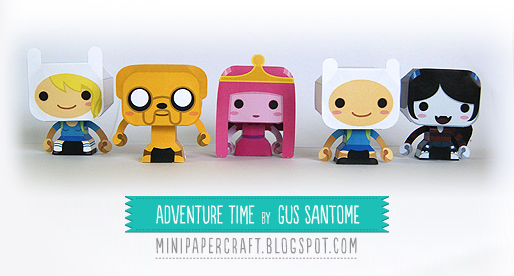 Mini Adventure Time Paper Toys
