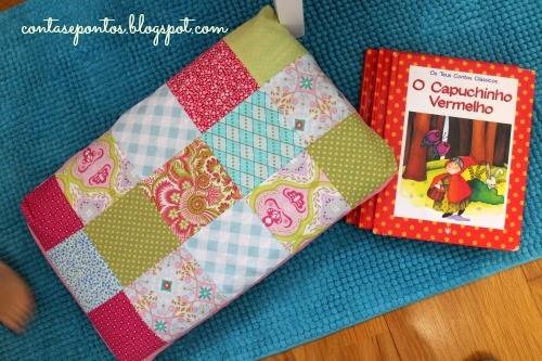 Almofada em tecido - patchwork